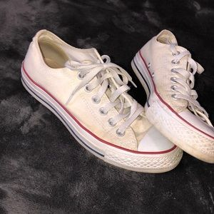 size 7 low top white converse